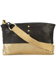 Laura B Studded Baguette Clutch Brown