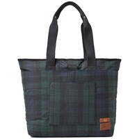 Fred Perry X British Millerain Blackwatch Tote Green