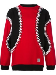 Ktz Lace Up Detailing Sweatshirt Red