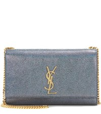 Saint Laurent Medium Kate Monogram Leather Shoulder Bag Green
