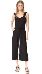 7 For All Mankind Belted Jumpsuit Black
