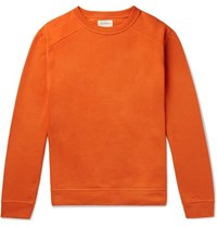 Oliver Spencer Robin Fleece Back Cotton Jersey Sweatshirt Orange