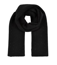 William Sharp Cashmere Waffle Knit Scarf Female