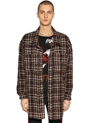 Faith Connexion Oversize Heavy Wool Boucle Shirt Brown