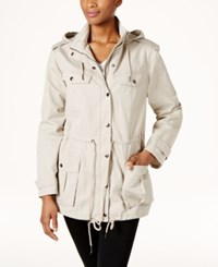 G.H. Bass And Co. Cotton Hooded Utility Jacket Stone