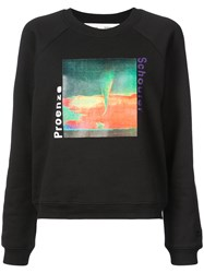 Proenza Schouler Pswl Graphic Sweatshirt Black
