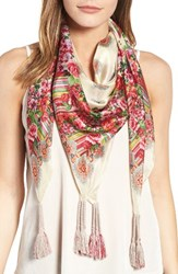 Johnny Was Women's Rose Lace Print Square Silk Scarf