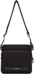 Dolce And Gabbana Black Canvas Leather Messenger Bag