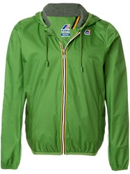 K Way Contrast Zip Jacket Green