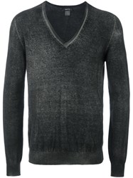 Avant Toi Ribbed V Neck Jumper Green