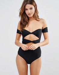 6 Shore Road Wanderlust Bow Cut Out Swimsuit Blr Multi
