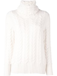 N.Peal Cable Chunky Pullover White