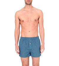 Tommy Hilfiger Pack Of Two Cotton Boxer Shorts Blue Navy