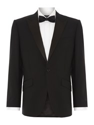 New And Lingwood Benson Black Evening Jacket With Satin Peak Lapel