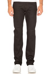 Naked And Famous Weird Guy 12Oz Stretch Selvedge Black And Red