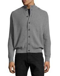 Luciano Barbera Button Front Cashmere Cardigan Green