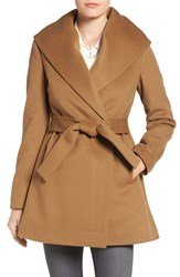 Trina Turk Women's 'Emma' Wool Blend Wrap Coat Camel