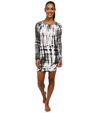 Hard Tail Long Sleeve Mini Dress All Over Lizard Women's Dress Black