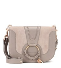 See By Chloe Hana Medium Leather Shoulder Bag Grey