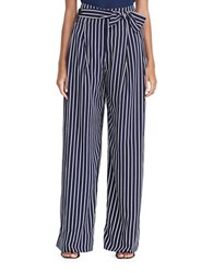 Lauren Ralph Lauren Wide Legged Stripe Pants Navy