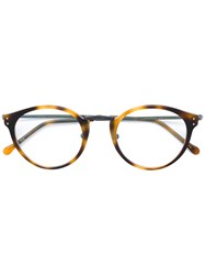 e58e079dc83 Masunaga Round Glasses Acetate Brown