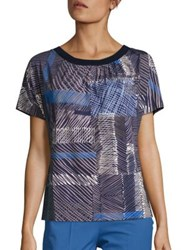 Piazza Sempione Patchwork Printed Tee Dark Blue