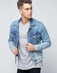 Pepe Jeans Denim Jacket Bleach Archive Wash Blue