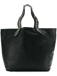 Red Valentino Sin Oversized Tote Black