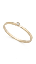 Gabriela Artigas Single White Diamond Ring Yellow Gold