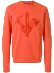 Rossignol Embroidered Sweatshirt Cotton Polyester Yellow Orange