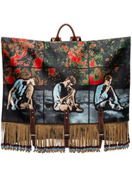 J.W.Anderson Jw Anderson X Gilbert And George Fringed Canvas Backpack 108 108 Multicoloured