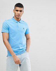 Selected Homme Polo With Badge Azure Blue