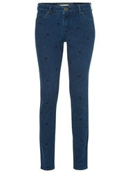 White Stuff Spot To Dot Skinny Jeans Denim Blue
