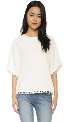 Blaque Label Top With Tassels White