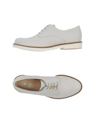 Rose Lace Up Shoes White