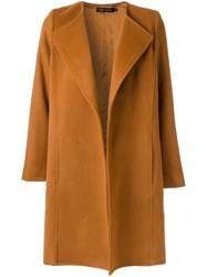 Andrea Marques Lapels Coat Women Polyamide Wool 38 Yellow Orange