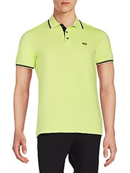 Just Cavalli Embroidered Logo Polo Shirt Green