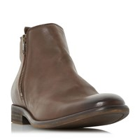 Bertie Chance Elastic Chelsea Boots Dark Brown