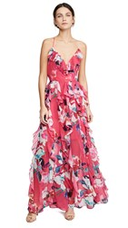 Fame And Partners The Madeline Dress Sorrento Floral Hot Pink
