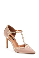 Halogen 'Martine' Studded T Strap Pump Women Pink