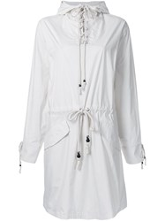 Non Tokyo Hooded Lace Up Dress White