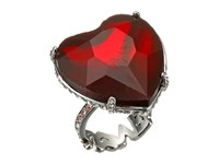 Betsey Johnson Large Heart Cocktail Ring Red Ring