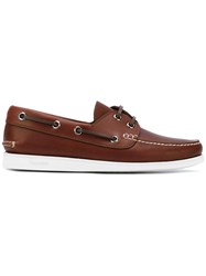 Church's Lace Up Boat Shoes Men Calf Leather Leather Rubber 11 Brown