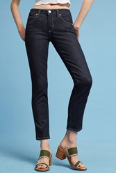 Anthropologie Amo Bow Crop Straight Mid Rise Jeans Denim Dark