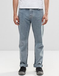 Weekday Vacant Straight Jeans Bench Blue Bench Blue 74 101