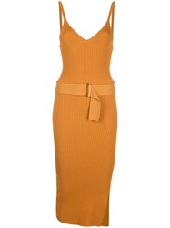 Nicholas Asymmetric Midi Dress Brown