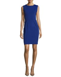Elie Tahari Marley Sleeveless Sheath Dress Blue