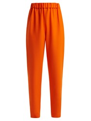 Maison Rabih Kayrouz Wool Twill Mid Rise Trousers Orange