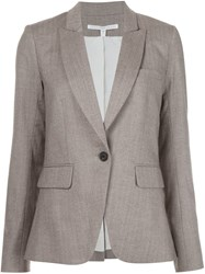 Veronica Beard Herringbone Blazer Brown