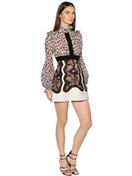 Giambattista Valli Printed And Embroidered Georgette Dress